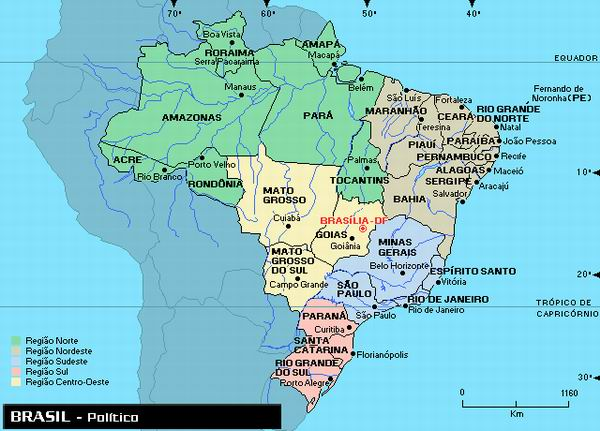mapa do brasil com capitais Mapas do Brasil – Estados e Capitais do Brasil mapa do brasil com capitais