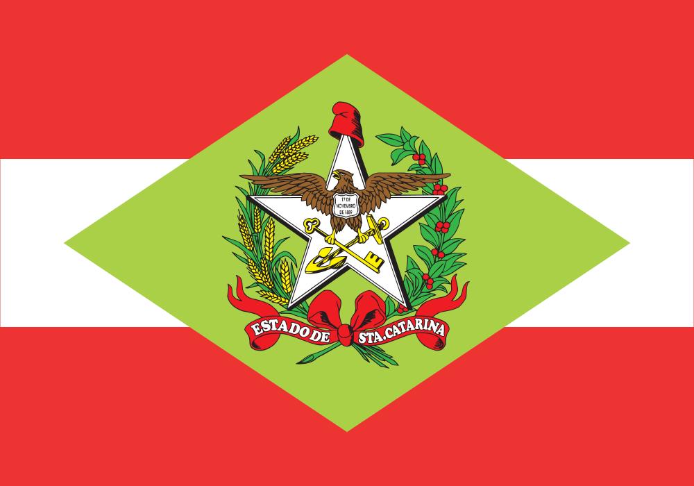 b359479b890e5 Bandeira de Santa Catarina – Estados e Capitais do Brasil