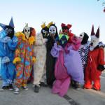 Foliões do carnaval à fantasia de Maragojipe/ BA