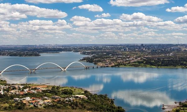 Lago Paranoa Brasilia Distrito Federal Bandeira Do Brasil Suas Formas