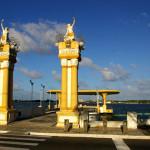Ponte do Imperador, pier sobre o Rio Sergipe - Aracaju/ SE