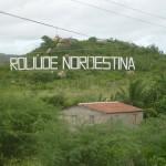 Letreiro na cidade de Cabaceiras, a Roliúde Nordestina/ PB