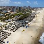 Vista aérea da Praia do Futuro - Fortaleza/ CE