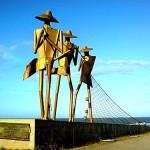 Escultura Os Pescadores, Praia de São Marcos - São Luís/ MA