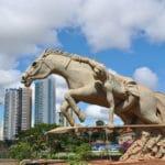 Monumento Cavaleiro Guaicuru - Parque das Nações Índigenas - Campo Grande/ MS