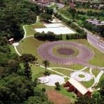 Vista aérea do Bosque da Fazendinha - Curitiba/ PR