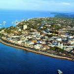 Vista aérea parcial de Santarém/ PA