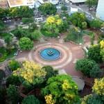 Vista aérea da Praça Ary Coelho - Campo Grande/ MS