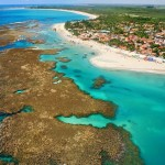 Vista aérea da praia de Porto de Galinhas - Ipojuca/ PE