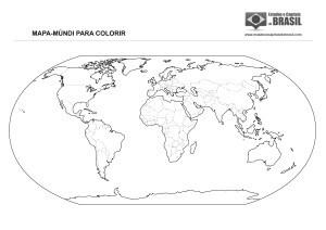 Mapa-Múndi para colorir (países)