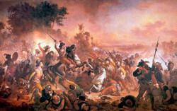 Pintura representando uma batalha